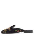 Womens Robin Black Needlepoint Mule 4