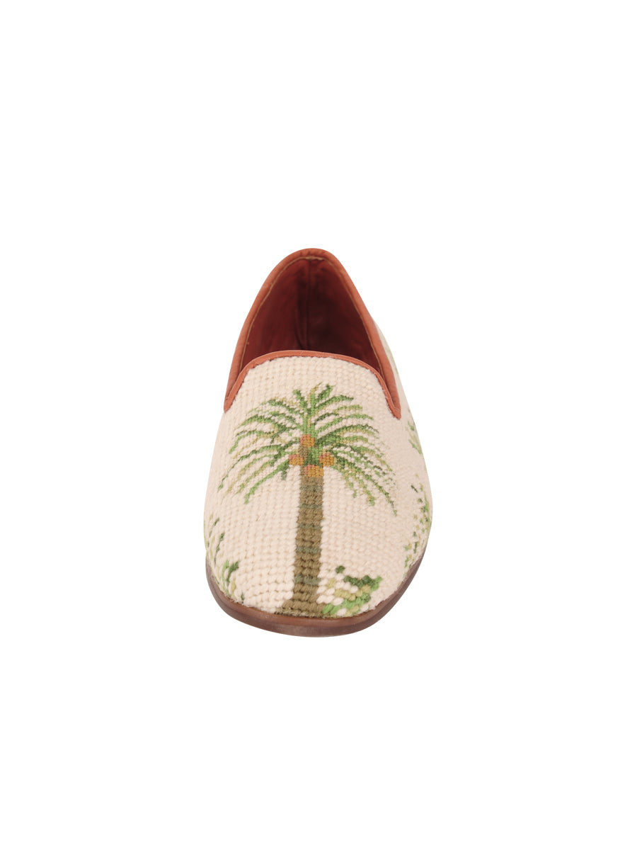 Womens Traditional Palm on Sand Needlepoint Loafer 4