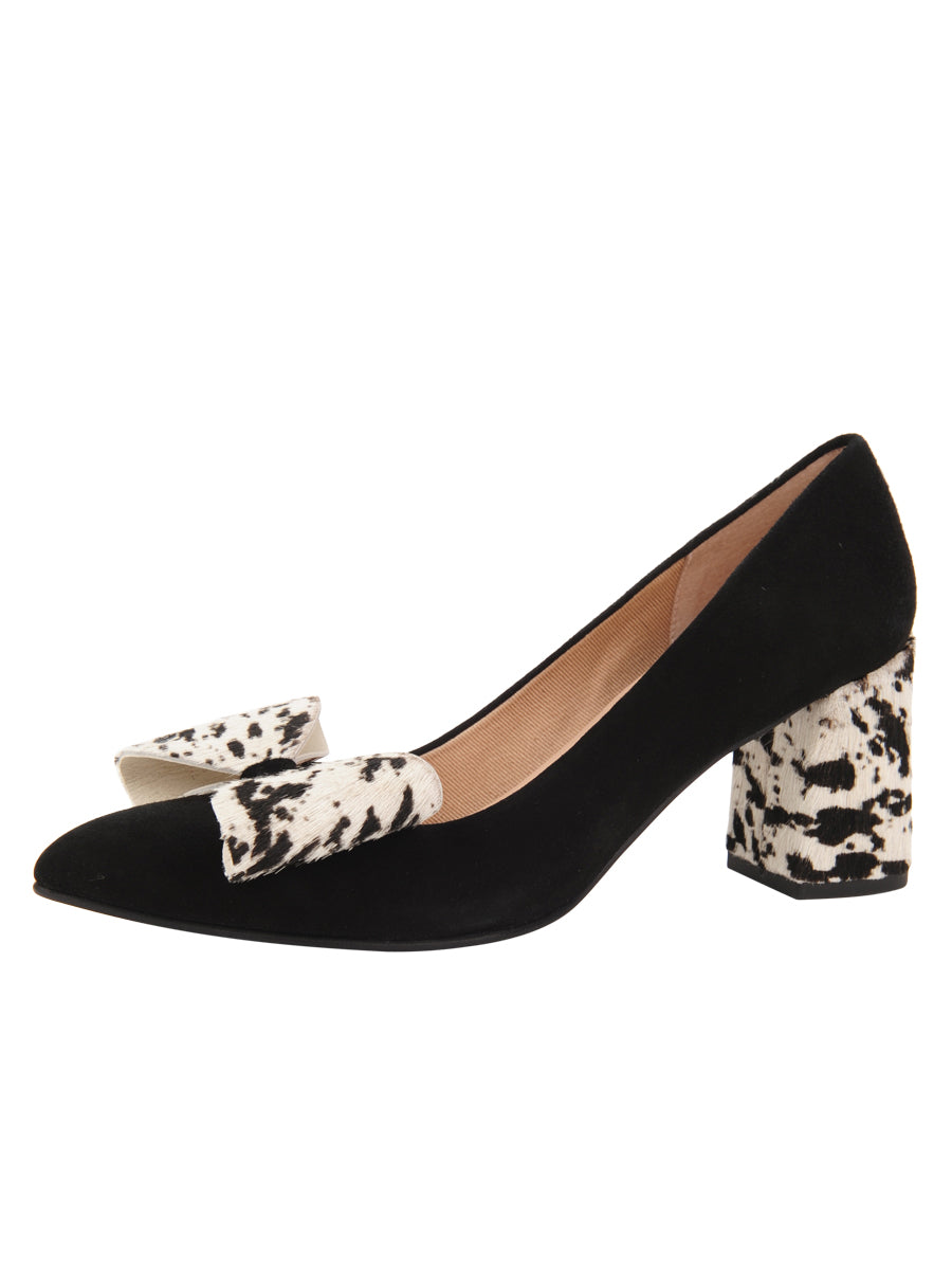 Womens BLK/PONY ESTELLA Pointed Toe Pump