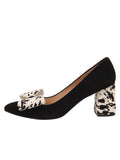 Womens BLK/PONY ESTELLA Pointed Toe Pump 6