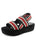 Womens Black & Red Baird Platform Sandal