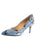 Womens Blue Gloss Francine Pump