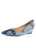 Womens Blue Gloss Paris Wedge