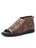 Womens Chocolate Alexie Laser Cut Peep-Toe Flat