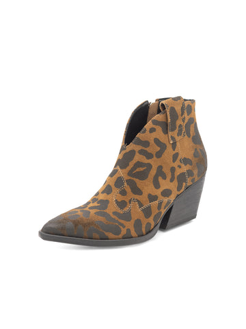 Womens Leopard Print Rodeo Pull On Bootie