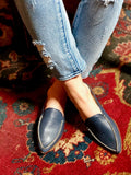 Womens Navy Leather Keaton 2