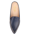 Womens Navy Leather Keaton 5