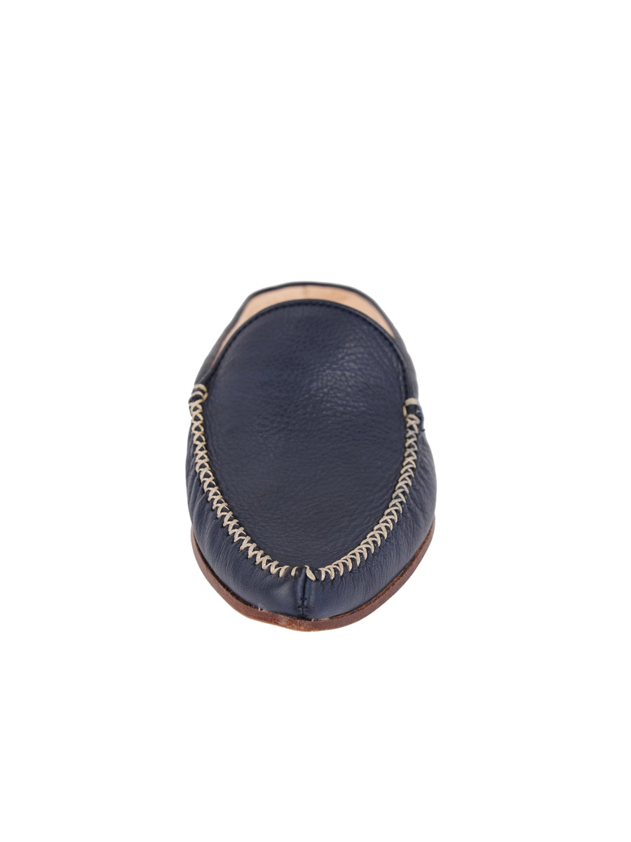 Womens Navy Leather Keaton 6