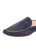 Womens Navy Leather Keaton 7