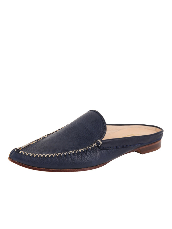 Womens Navy Leather Keaton