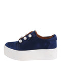 Womens Navy Satin Val 2