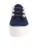 Womens Navy Satin Val 6