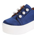 Womens Navy Satin Val 7
