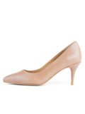 Womens Nude/Beige Leather Francine Pump