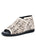 Womens Off White Alexie Laser Cut Peep-Toe Flat