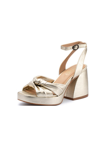 Womens Platinum Vogue Metallic Nappa