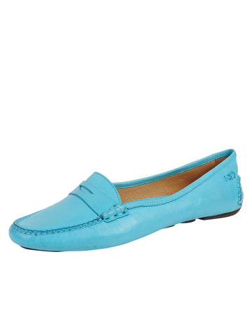 Womens Aqua Bristol Penny Loafer