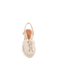 Womens Beige Snake Seville Closed Toe Slingback with Elastic Strap 6