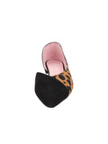 Womens Black Leather Bettina Flat 4