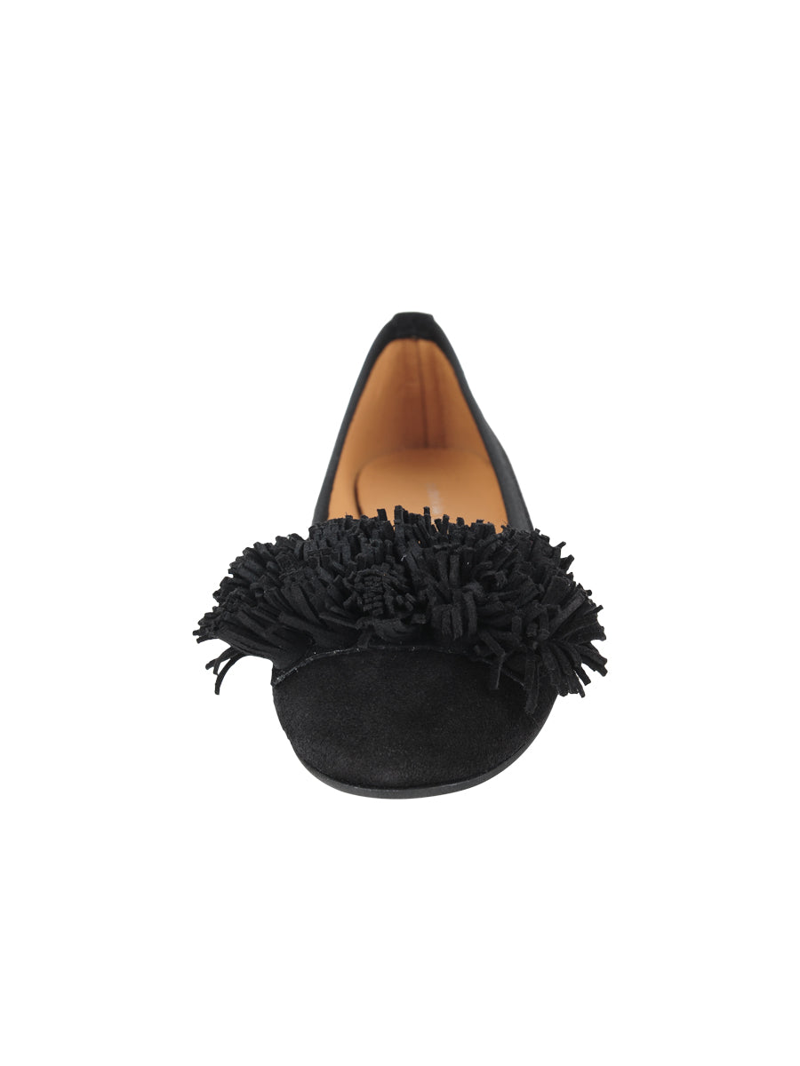 Womens Black Suede Kerry Flat 4