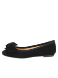 Womens Black Suede Kerry Flat 6