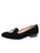 Womens Black Velvet Sophia Smoking Slipper Flat