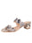 Womens Black/White Palm Beach Python Scalloped Sandal