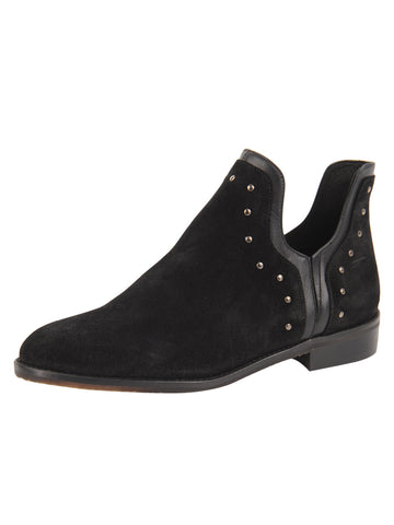 Womens Black Austin Studded Bootie