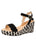 Womens Black St. Tropez Wedge Sandal