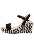 Womens Black St. Tropez Wedge Sandal 6