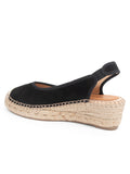 Womens Black Valencia Closed Toe Slingback Espadrille 2