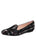 Womens Black Buckingham Smoking Slipper Flat