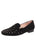 Womens Black Celeste Smoking Slipper Flat