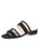 Womens Black Belle Double Strap Sandal with Mesh