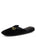 Womens Black Milano Embroidered Slipper