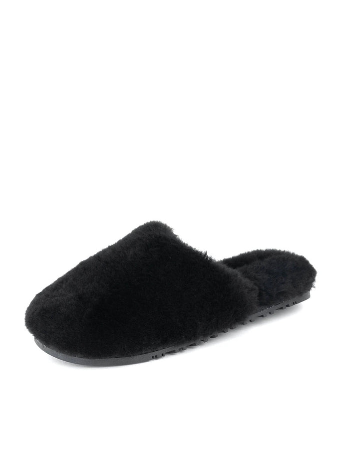 Womens Black Montana Shearling Slipper