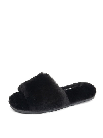 Womens Black Tahoe Single Strap Slipper