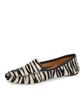 Womens Black & White Zebra Haircalf Jillian Driving Moccasin