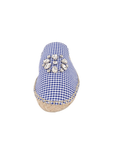 Womens Blue Gingham Glam 4 Alternate View