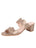 Womens Camel Metallic Palm Beach Suede