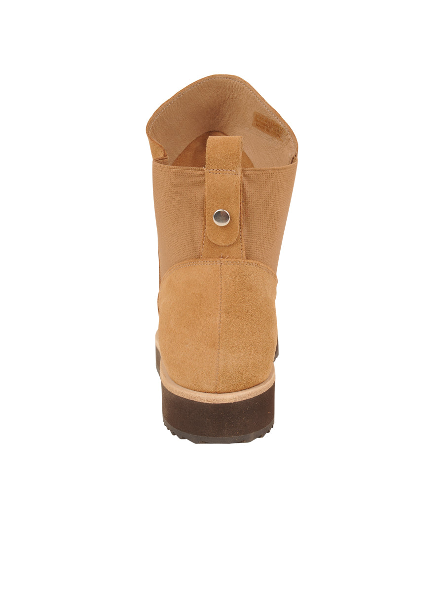 Womens Camel Suede Charlee Sport Bootie 2