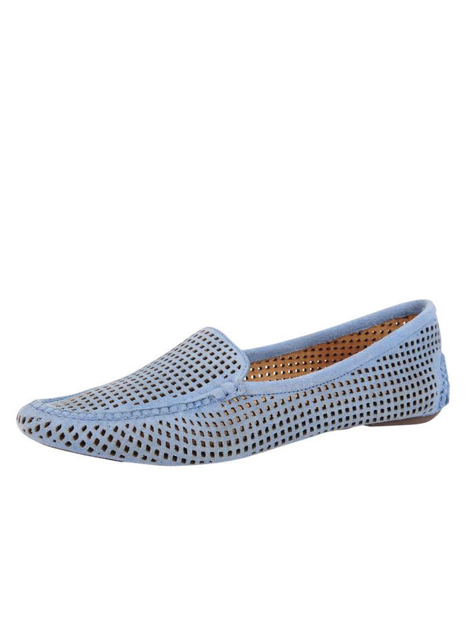 Womens French Blue Barrie DRIVING MOCCASIN