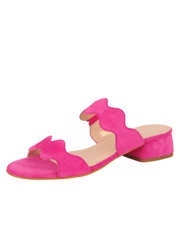 Womens Fuchsia Emilia Scalloped Sandal