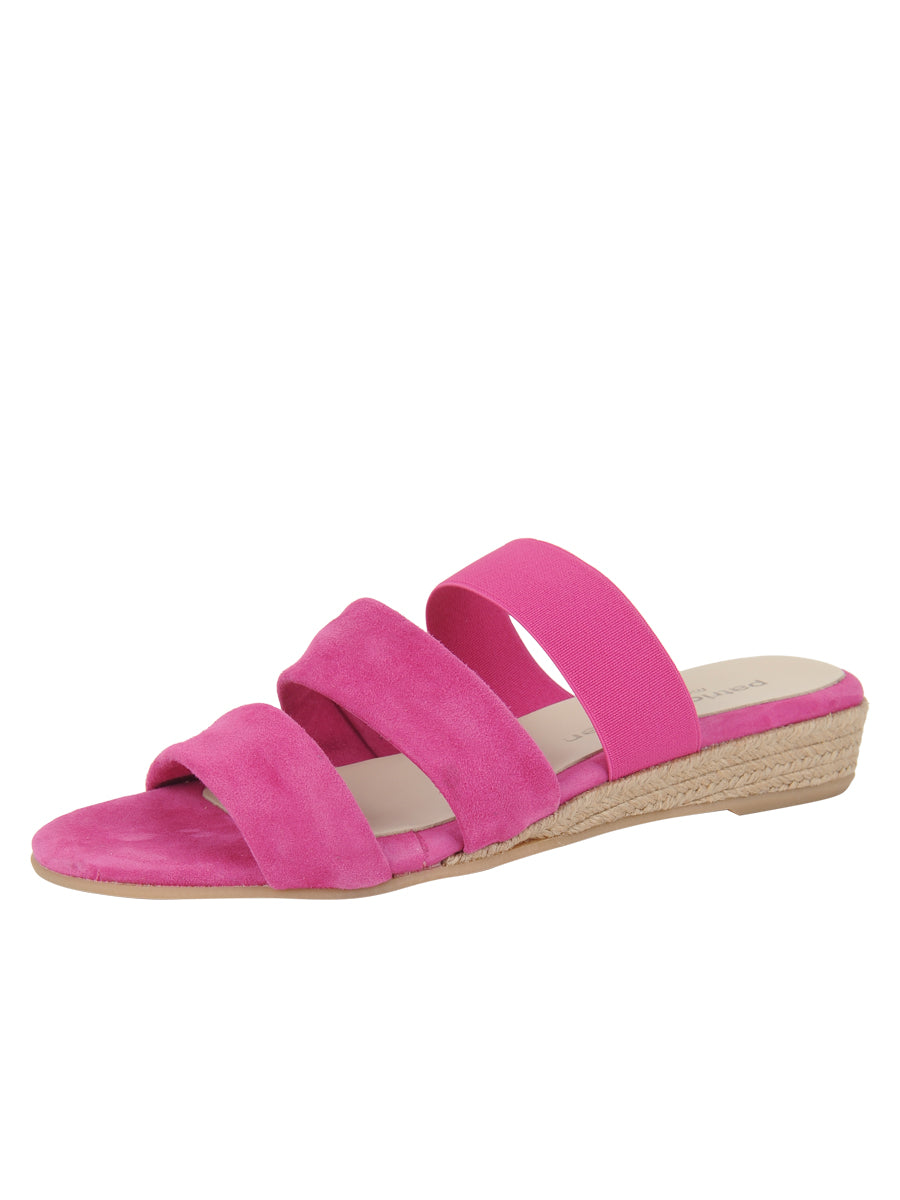 Womens Fuschia Joanna Wedge Sandal