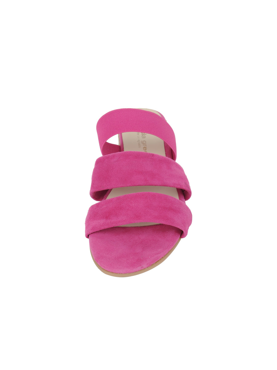 Womens Fuschia Joanna Wedge Sandal 4