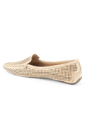 Womens Gold Suede Barrie Driving Moccasin 2