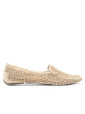 Womens Gold Suede Barrie Driving Moccasin 4