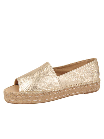 Womens Gold Angie Espadrille