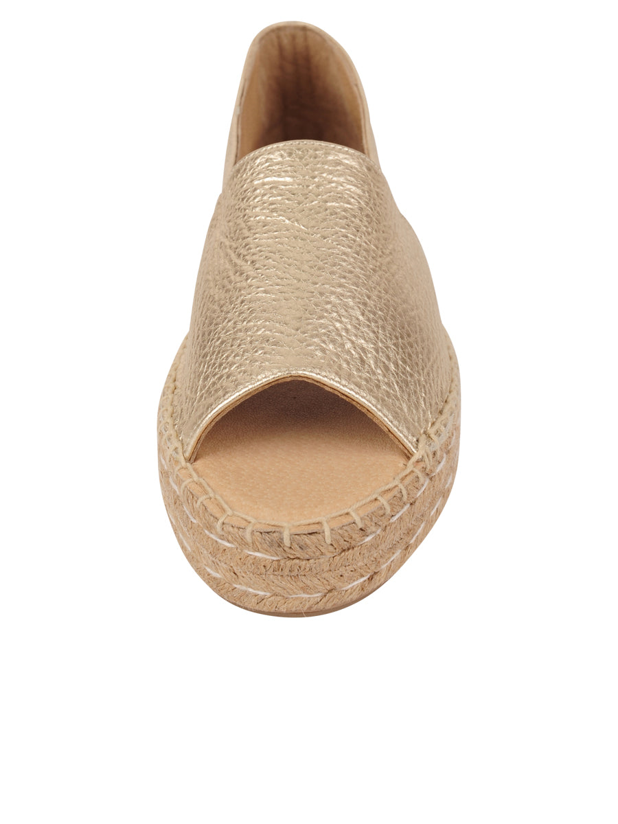 Womens Gold Angie Espadrille 4