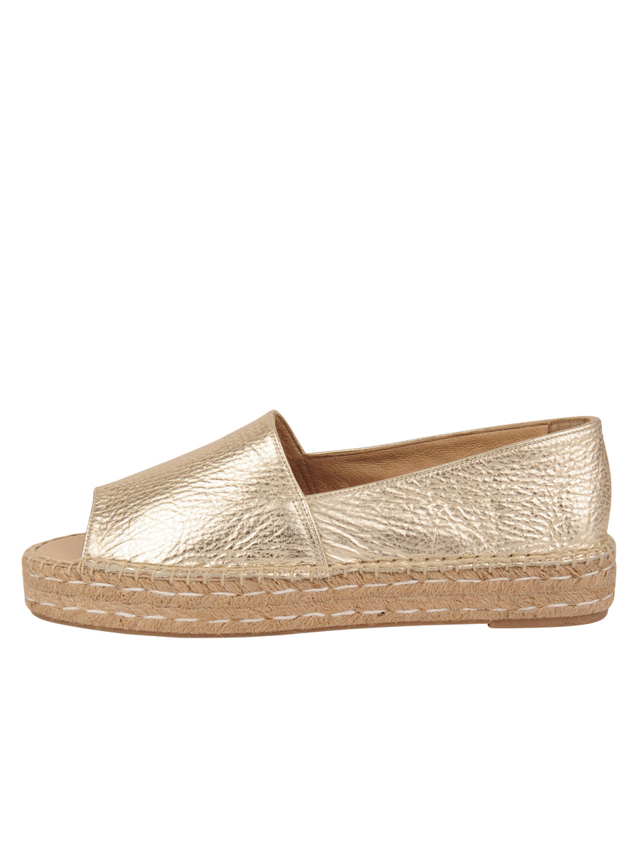 Womens Gold Angie Espadrille 6